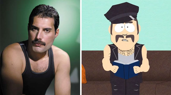 Freddie Mercury Looks Like The Gay Dude From South Park