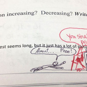 Math Teacher Finishes His Student's Doodle