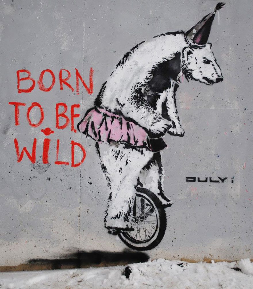 Graffiti art with meaning -  15 Born To Be Wild