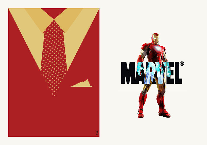 Avengers' Costumes Reimagined As Elegant Suits & Ties