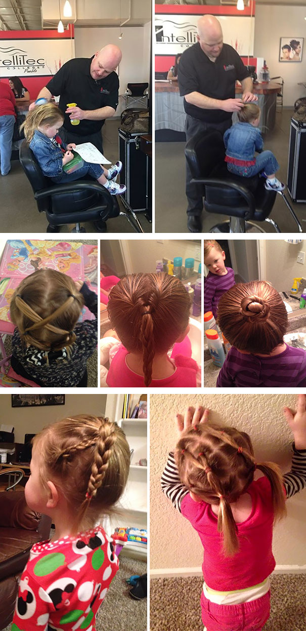Single Dad Couldn't Do His Daughter's Hair, So He Went To Beauty School
