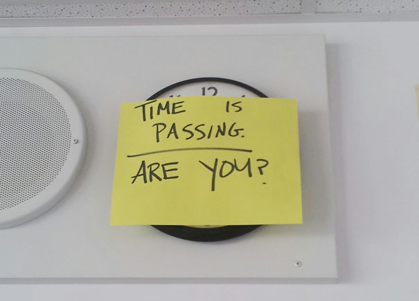 English Teacher Put This On The Clock During Finals