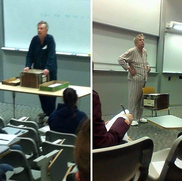 Teachers Come To School In Pajamas To Protest Finals Being Held At 7 In The Morning