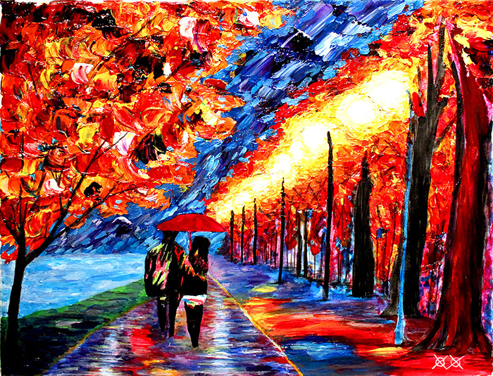 Blind Painter Uses Touch And Texture To Create Incredibly Colorful Paintings
