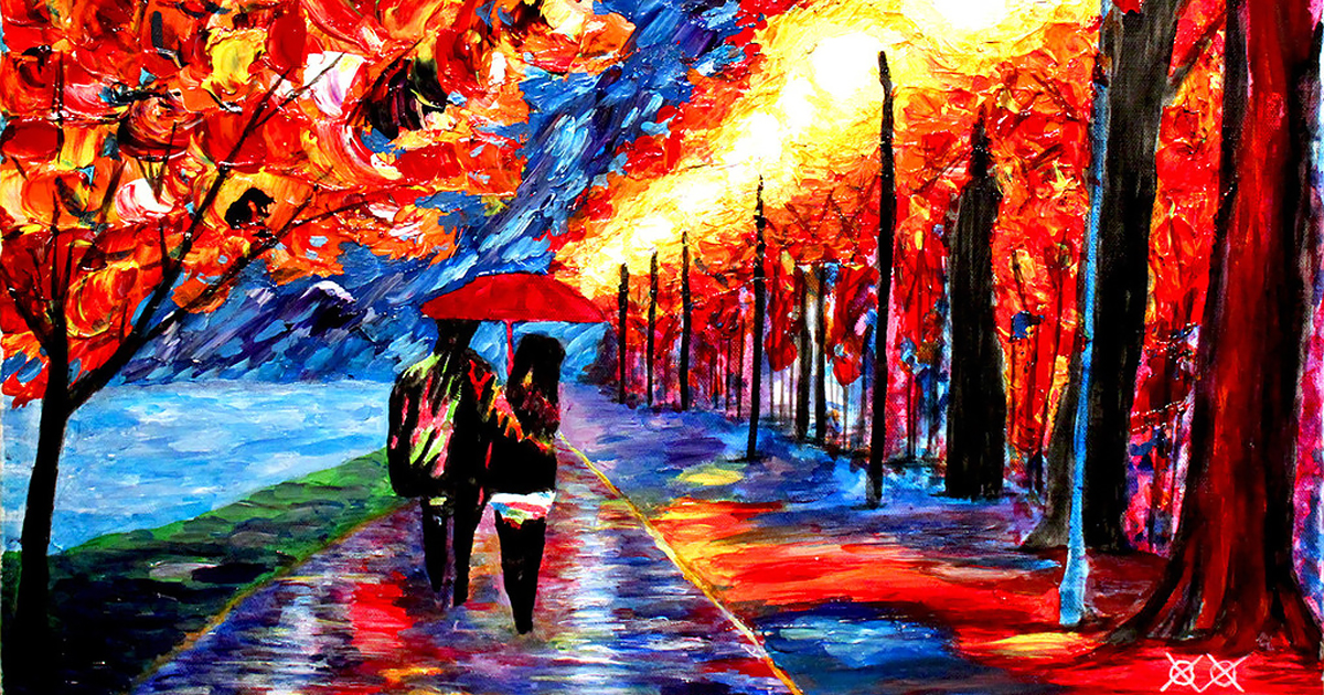 Blind Painter Uses Touch And Texture To Create Incredibly Colorful