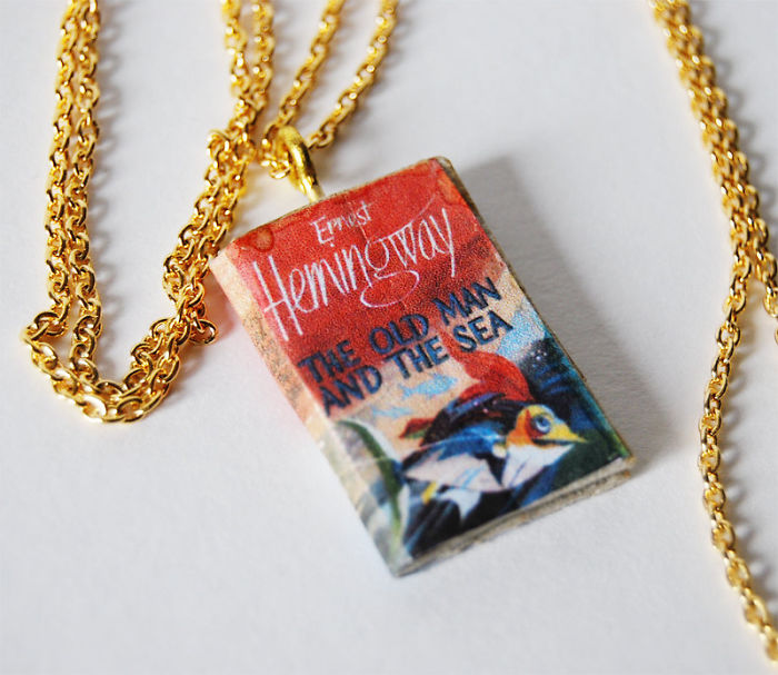 Custom Made Necklace Of Your Favorite Book