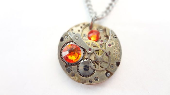 Clockwork Orange Necklace