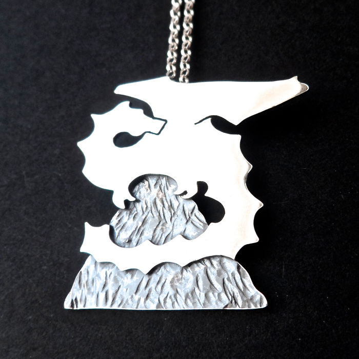 Hobbit Mountain And The Dragon Necklace