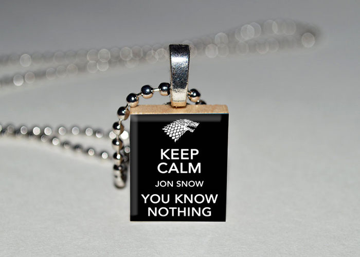 You Know Nothing John Snow Necklace