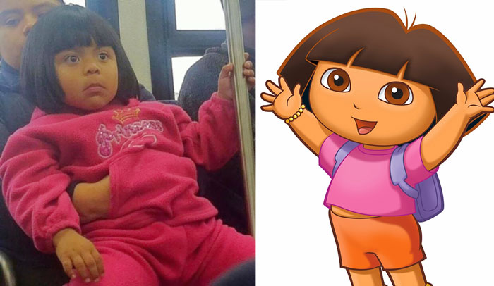 Girl Looks Like Dora The Explorer