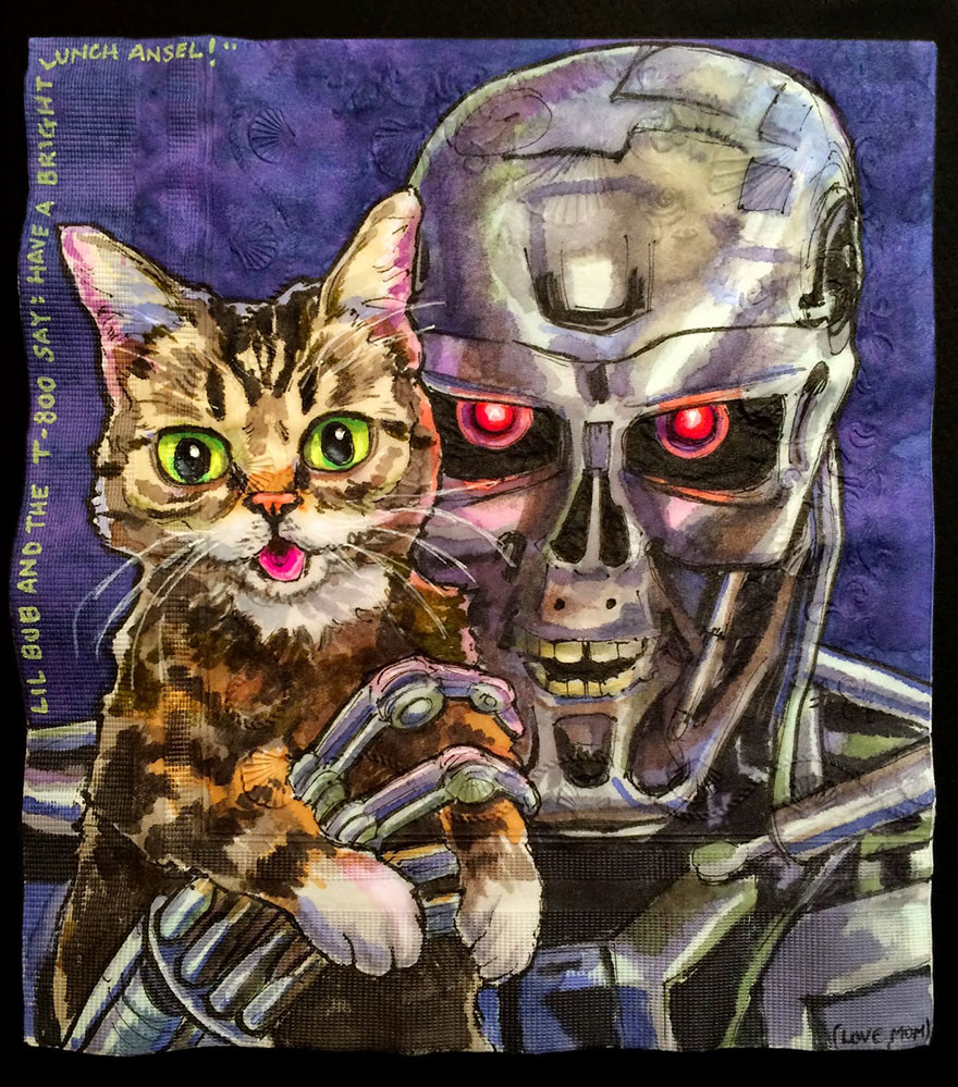 cats-robots-lunchbox-napkins-drawings-nina-levy-18