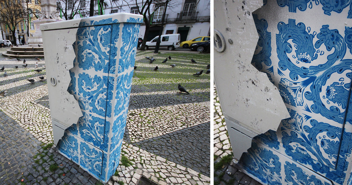 I Create Ceramic Tile Illusions On Electrical Boxes And