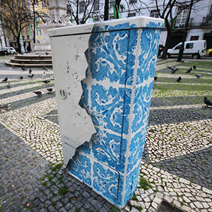 I Create Ceramic Tile Illusions On Electrical Boxes And Buildings To Remind People Of Portuguese History