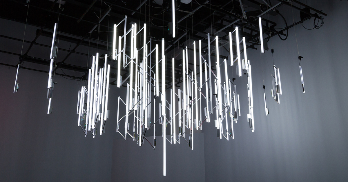 I Built A Chandelier Which Flashes When It Detects