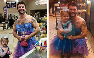 Girl Was Afraid To Wear Dress To Cinderella Movie, So Her Uncle Did This