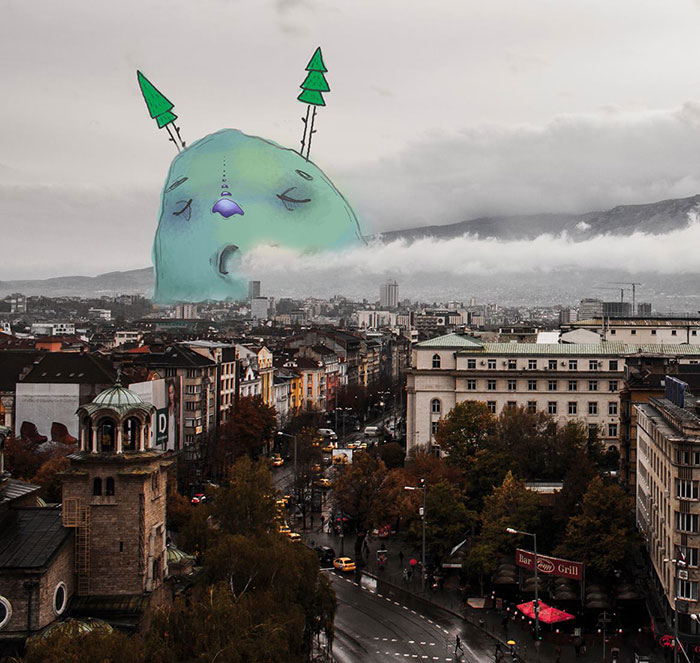 Lazy Monsters Take Over Sofia, Bulgaria