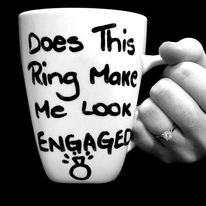 Writing It On A Mug Engagement Announcement