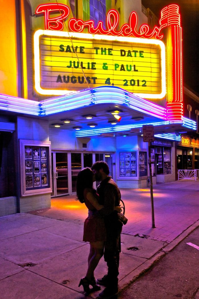 Movie Theater Engagement Announcement