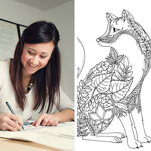 Artist Creates Adult Coloring Books And Sells More Than A Million Copies