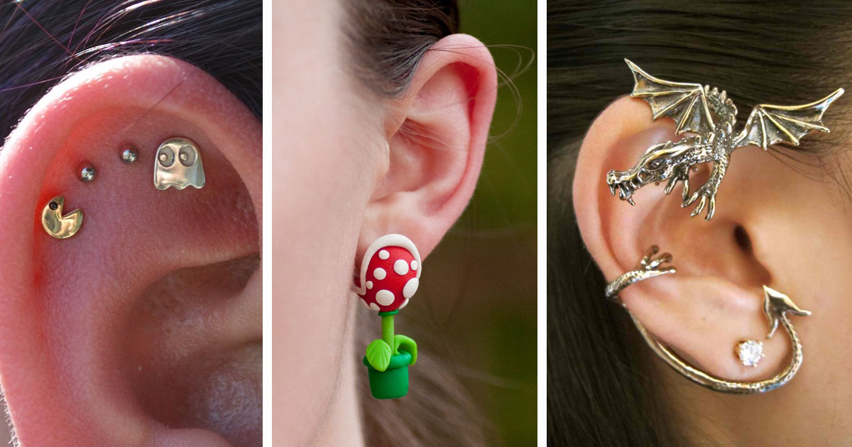 120 Of The Most Creative Earrings For Geeky Girls
