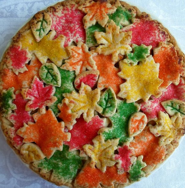 Autumn Leaves Colorful Pie