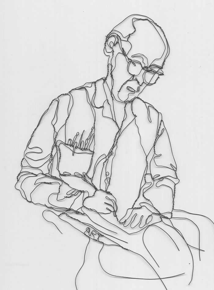 """Teacher Tells Student, """"mess With Wire.""""  Sparks E. Berrien's Career & This Wire Portrait."""