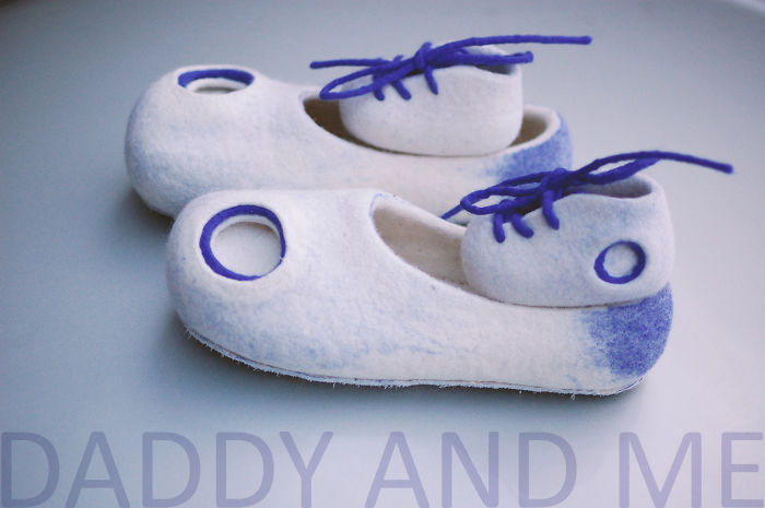 Daddy And Me! Cute Slippers Set