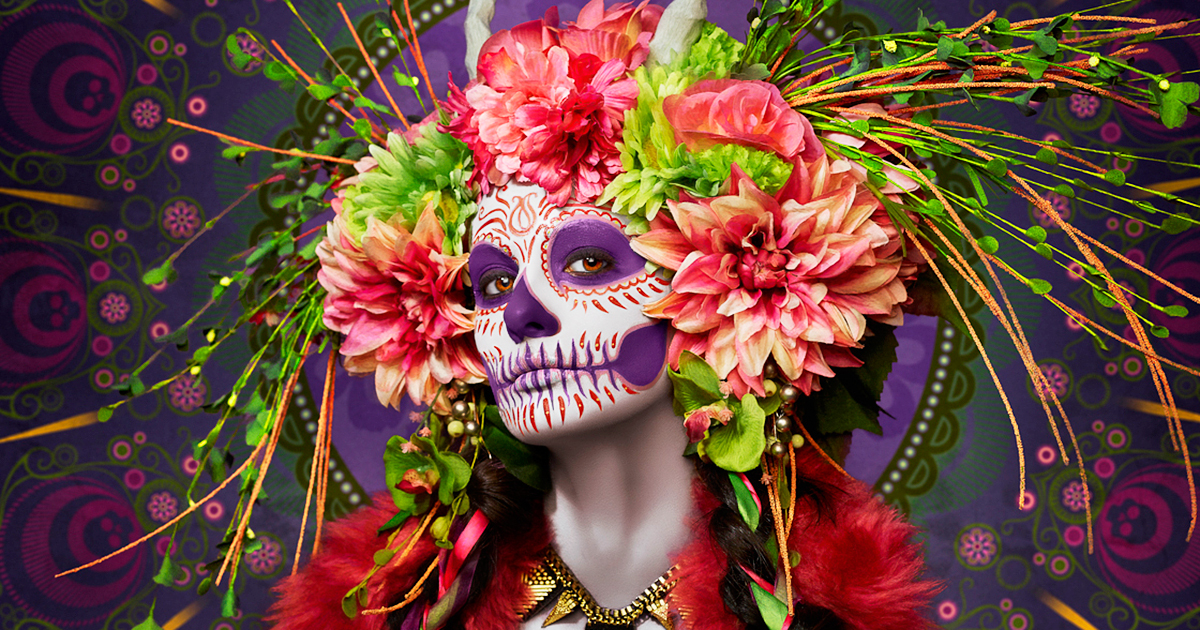 las muertas deadly beauties pose in colorful tribute to