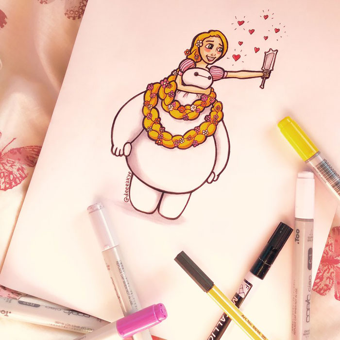 Self Taught 18 Year Old Illustrator Reimagines Baymax As Famous