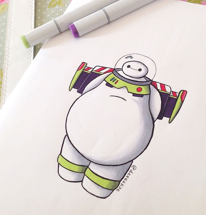 Self Taught 18 Year Old Illustrator Reimagines Baymax As