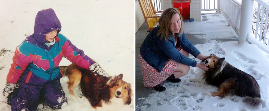 My Girlfriend And Her First Dog Eleven Years Apart