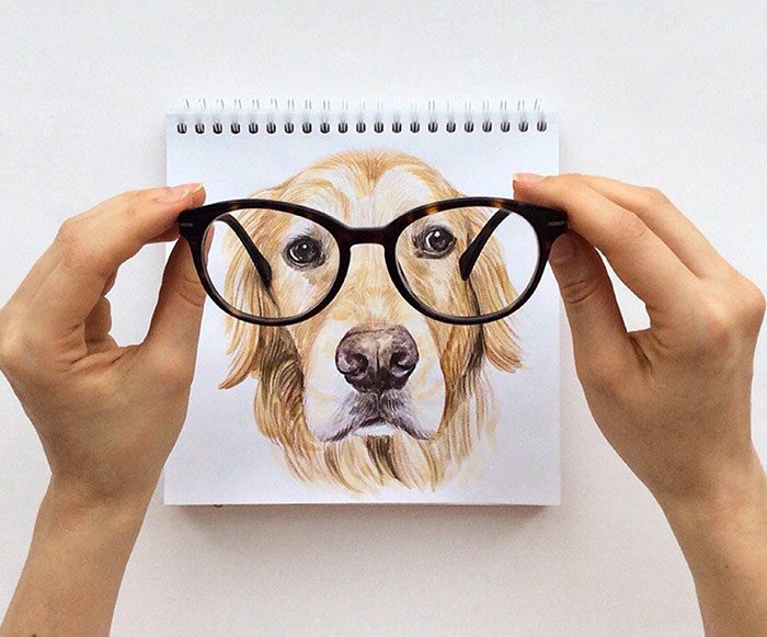 Russian Illustrator Turns Famous Instagram Dogs Into Drawings