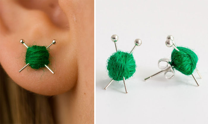 Knitting Ear Studs
