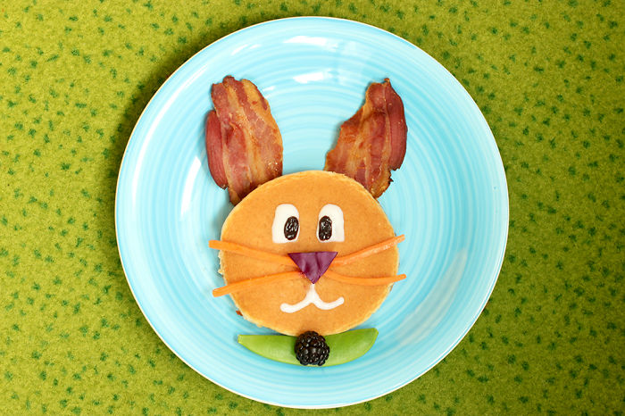 Make A Yummy Bunny Pancake For Easter Breakfast