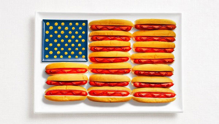 National Flags Created From Food For The Sydney International Food Festival