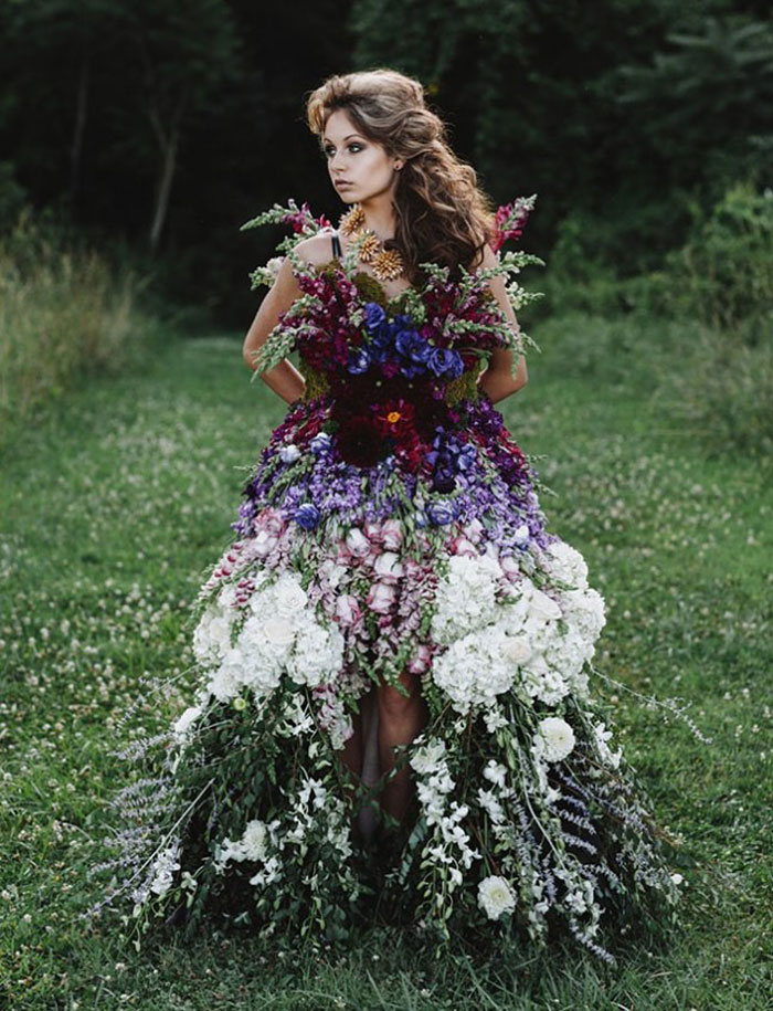 Floral Haute Couture: The Dress Made Of Flowers