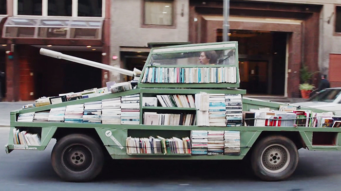 Weapon Of Mass Instruction: Artist Creates A Tank That Delivers Free Books