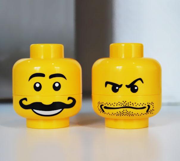 Lego Head Salt And Pepper Shakers