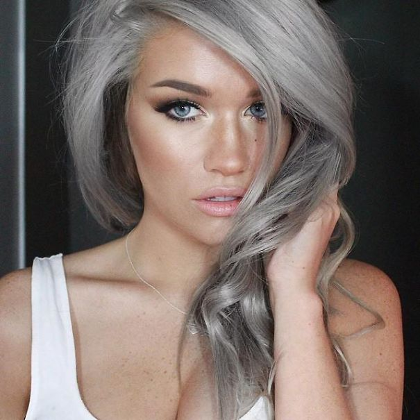 Granny Hair Trend Young Women Are Dyeing Their Hair Gray Bored Panda