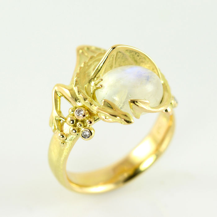 Smaug And The Arkenstone Gold Ring By Castens.com