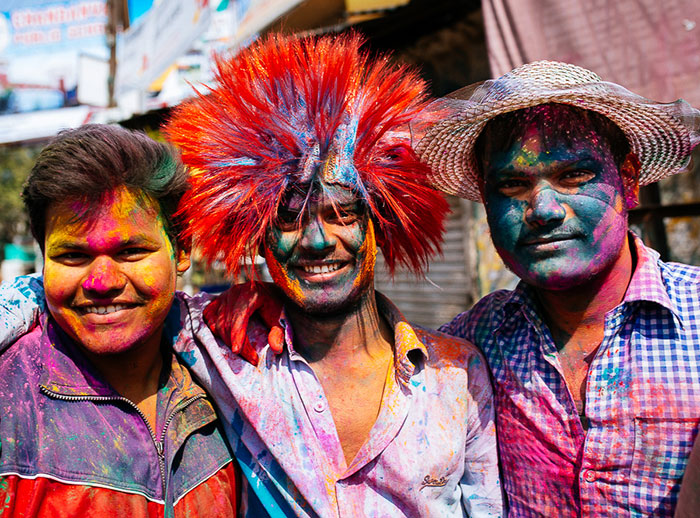 What It's Like To Celebrate Holi At The Craziest Place On Earth For It – Mathura, India