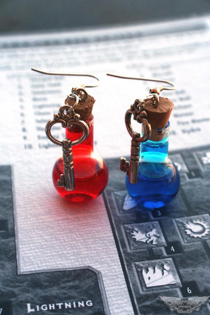 Mana And Health Potion Earrings