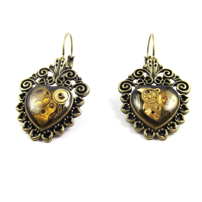 Lovely Steampunk Style Hearts