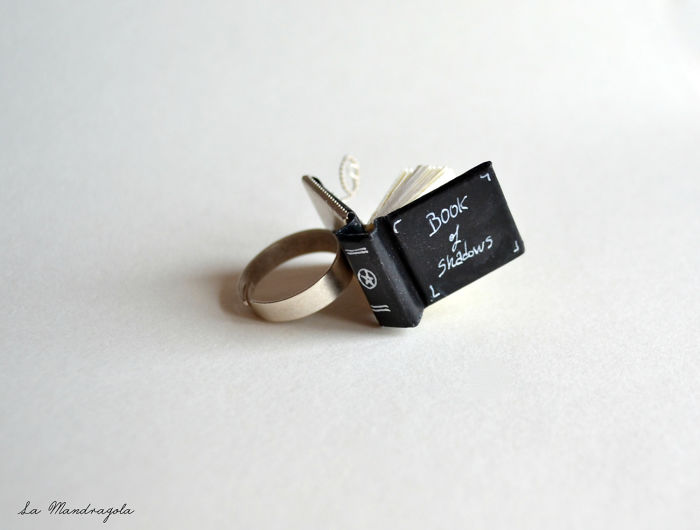 Book Of Shadows Miniature Ring.