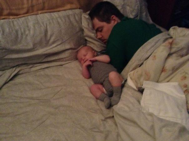 Cuddling With Daddy!