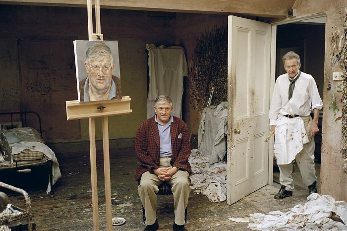 Lucian Freud Painting David Hockney