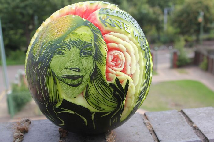Watermelon Turned Into Photo