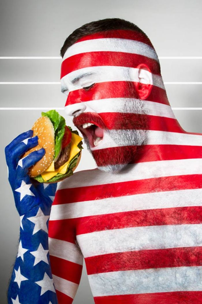 Fat Flag – Body Painting, Flags And Culinary Clichés
