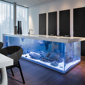 This Kitchen Island Is Also A Giant Aquarium