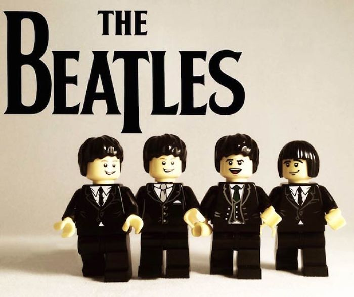 20 Famous Music Bands Recreated In Lego
